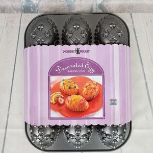 Nordic Ware Decorated Egg Cast Aluminum Baking Pan
